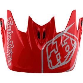 Troy Lee Designs D3 Fiberlite Hjelm, silhouette red/white